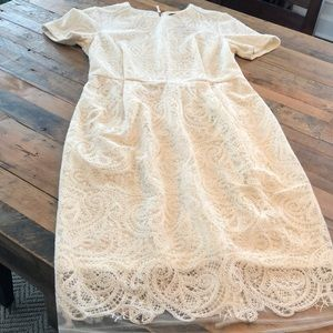 Top Shop cream dress. New with tags!